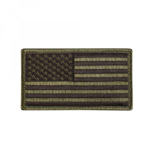 "Нашивка Rothco ""American Flag"" Patch - Olive/Black"